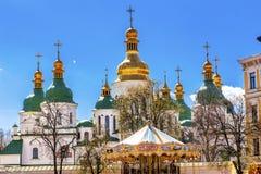 Saint Sophia Cathedral Spires Sofiyskaya Square Kiev Ukraine Royalty Free Stock Photography