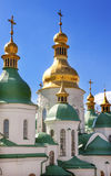 Saint Sophia Cathedral Spires Tower Sofiyskaya Kiev Ukraine Royalty Free Stock Images
