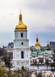 Saint Sophia Cathedral Spires Tower Sofiyskaya Square Kiev Ukraine Stock Photography