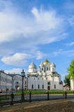 Saint Sophia Cathedral at summer sunset in Veliky Novgorod, Russia Stock Photo