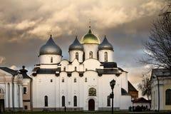 Saint Sophia Cathedral in Velikiy Novgorod Stock Image