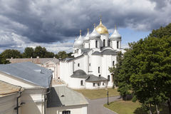 Saint Sophia Cathedral. Velikiy Novgorod. Russia. Saint Sophia Cathedral - the main Orthodox church in Veliky Novgorod, created in 1045-1050 years. Over the Royalty Free Stock Image