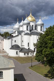 Saint Sophia Cathedral. Velikiy Novgorod. Russia. Saint Sophia Cathedral - the main Orthodox church in Veliky Novgorod, created in 1045-1050 years. Over the stock photo
