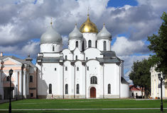Saint Sophia Cathedral in Veliky Novgorod Stock Images
