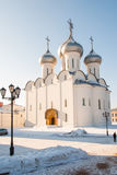 Saint Sophia Cathedral in Vologda. Frosty morning Stock Photo