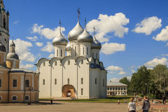 Saint Sophia Cathedral in Vologda. It is the ancient St. Sophia Cathedral, built in the 16th century by order of the Russian Tsar Ivan the Terrible May 27, 2013 Royalty Free Stock Photography