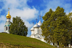 Saint sophia cathedral in vologda. Orthodox Saint Sophia Cathedral and Bell Tower in Vologda. Russia royalty free stock images