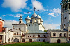 Saint sophia cathedral in vologda. Orthodox Saint Sophia Cathedral in Vologda Kremlin. Russia Royalty Free Stock Image