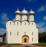Saint sophia cathedral in vologda. Orthodox Saint Sophia Cathedral in Vologda. Russia summer Royalty Free Stock Images