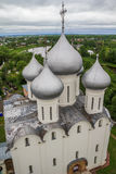 Saint Sophia Cathedral in Vologda. This is Saint Sophia Cathedral of the 16th century against the backdrop of a severe gray sky of the Russian North May 26, 2013 Stock Photography