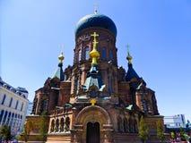Saint Sophia Church of Harbin appearance. Weathered Saint Sophia Church of Harbin appearance in Heilongjiang province China Stock Photos