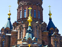Saint Sophia Church of Harbin appearance. Weathered Saint Sophia Church of Harbin appearance in Heilongjiang province China stock photography