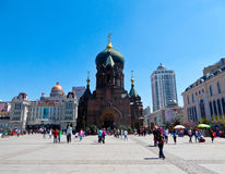 Saint Sophia Church of Harbin. In Heilongjiang province China royalty free stock images