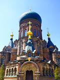 Saint Sophia Church of Harbin. Weathered Saint Sophia Church of Harbin appearance in Heilongjiang province China Stock Images