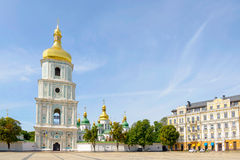 Saint Sophia Church in Kiev. With a high tower bell, Ukraine stock photography