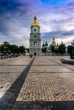 Saint Sophia National Sanctuary on St. Sophia Square. Saint Sophia National Sanctuary, Cathedral and belltower, on St. Sophia Square. View afar from near St Royalty Free Stock Photography