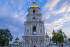 Saint Sophia`s Cathedral, Kiev. KIEV , UKRAINE - JUNE 05 : The cathedral of Saint Sophia in Kiev , Ukraine on June 05 2017 The cathedral is unesco world heritage royalty free stock photos