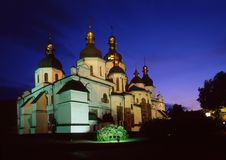Saint Sophia`s Cathedral evening view Stock Photos