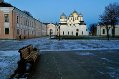 Saint Sophia's cathedral in Veliky Novgorod, Russia - Northern Orthodox landmark Royalty Free Stock Photos