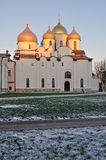 Saint Sophia`s cathedral in Veliky Novgorod, Russia. Saint Sophia Orthodox Cathedral in Veliky Novgorod, Russia. It is one of the earliest stone structures of stock image