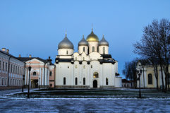 Saint Sophia`s cathedral in Veliky Novgorod, Russia Stock Photos