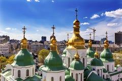 Saint Sophia Sofia Cathedral Spires Tower Sofiyskaya Square Kiev Royalty Free Stock Photo