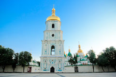 Saint Sophia square and cathedral in Kiev. Saint Sophia square and Bogdan Hmelnitskiy monument and Saint Sophia cathedral in Kiev, Ukraine Stock Photography