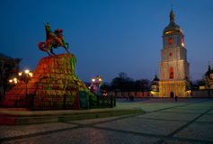 Free Saint Sophia& X27;s Cathedral And Bohdan Khmelnytsky Monument In Even Stock Photography - 95977712