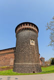 Saint Spirit Tower of Sforza Castle (XV c.) in Milan, Italy Royalty Free Stock Images