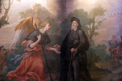 Saint, St Philip Neri church, Complesso di San Firenze in Florence. Italy Stock Images