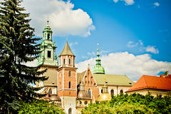 Saint Stanislas Cathedral at Wawel castle Royalty Free Stock Photography