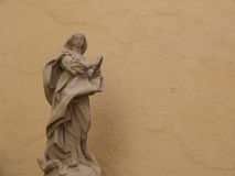Saint statue. As wall decor Royalty Free Stock Images