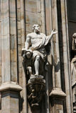 Saint statue at milan duomo Royalty Free Stock Image