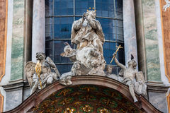 Asamkirche Church Saint Statue Munich Germany Royalty Free Stock Image