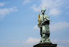 Saint statue in Prague Royalty Free Stock Photography