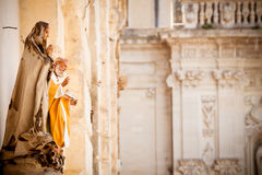 Saint statues in Lecce Stock Images