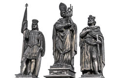 Saint statues sculptures of the Charles bridge Stock Image