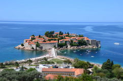 Saint Stefan Island. In  Montenegro Royalty Free Stock Image