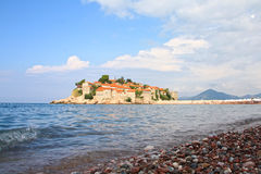 Saint Stefan island. Former fortress, currently luxury resort in Montenegro Stock Photography