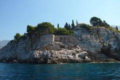 Saint Stefan  island Montenegro Stock Photography