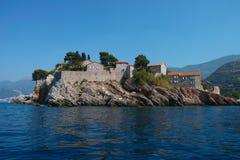Saint Stefan  island Montenegro Stock Images