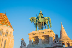 Saint Stefan Statue in Budapest, Hungary Stock Photos