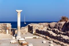 Saint Stefanos Kos. Archaeological site of Saint Stefanos in Kos island, Greece Royalty Free Stock Photo