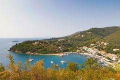 Saint Stefanos Sinion in Corfu, Greece. The port of Saint Stefanos Sinion in Corfu, Greece Stock Images