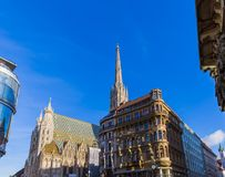 Saint Stephan cathedral in Vienna Austria. Cityscape architecture background Stock Photos