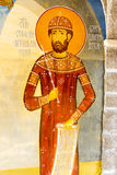 Saint Stephan in the mural painting in the Temple in Monastery Rezevici in Montenegro Stock Photography