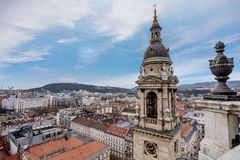 Saint Stephen Basilica, largest church in Budapest, Hungary.  stock photo