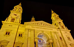 Saint Stephen basilica night view, Budapest Stock Photography