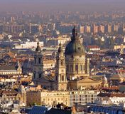 Saint Stephen Cathedral in Budapest, Hungary. View from distance, Gellert hill Royalty Free Stock Images