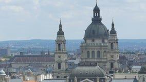 Saint Stephen Cathedral em Budapest video estoque